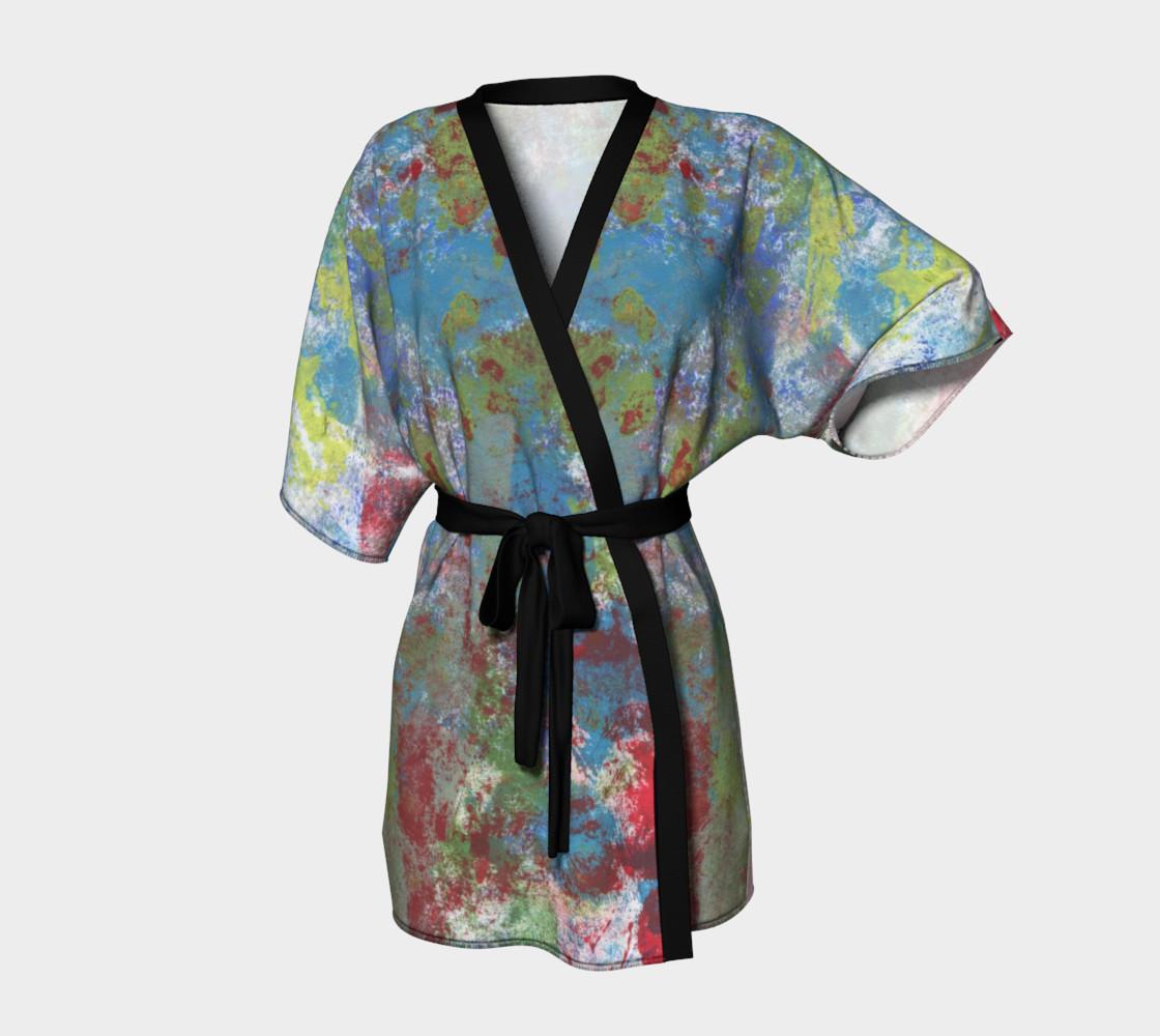 Multi Blue and Green Robe Kimono preview #1