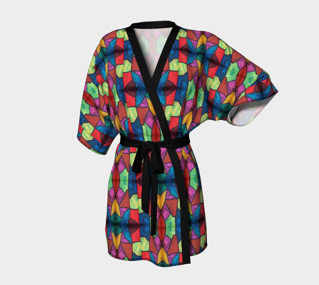 Flower Stained Glass Kimono Robe preview #1