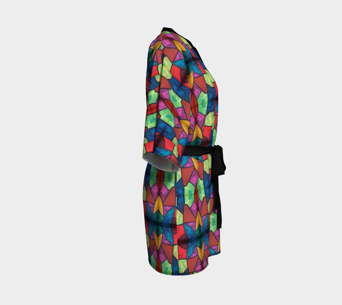 Flower Stained Glass Kimono Robe preview #3