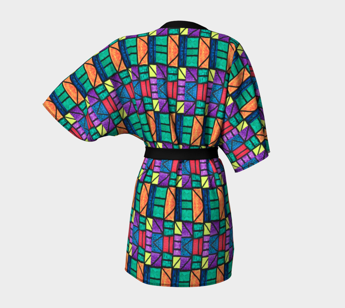 Art Deco Stained Glass Kimono preview #4