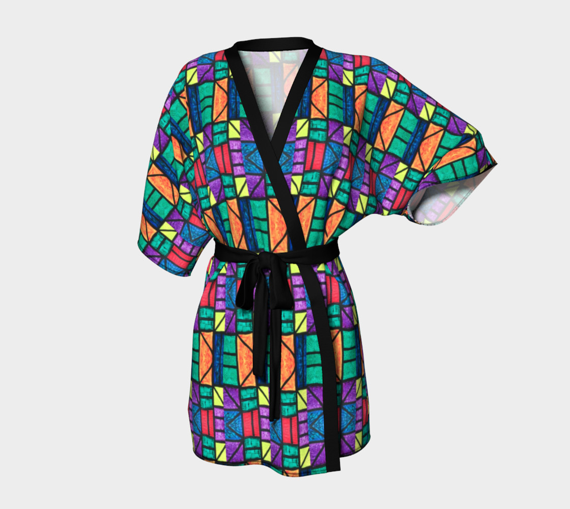 Art Deco Stained Glass Kimono preview #1