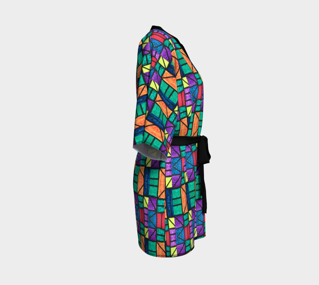 Art Deco Stained Glass Kimono preview #3