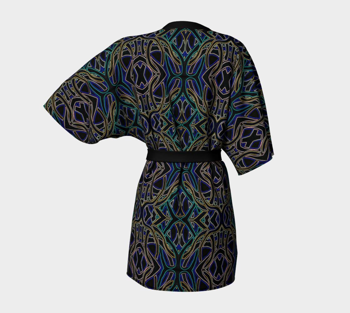 Dark Peacock Kimono Robe preview #4