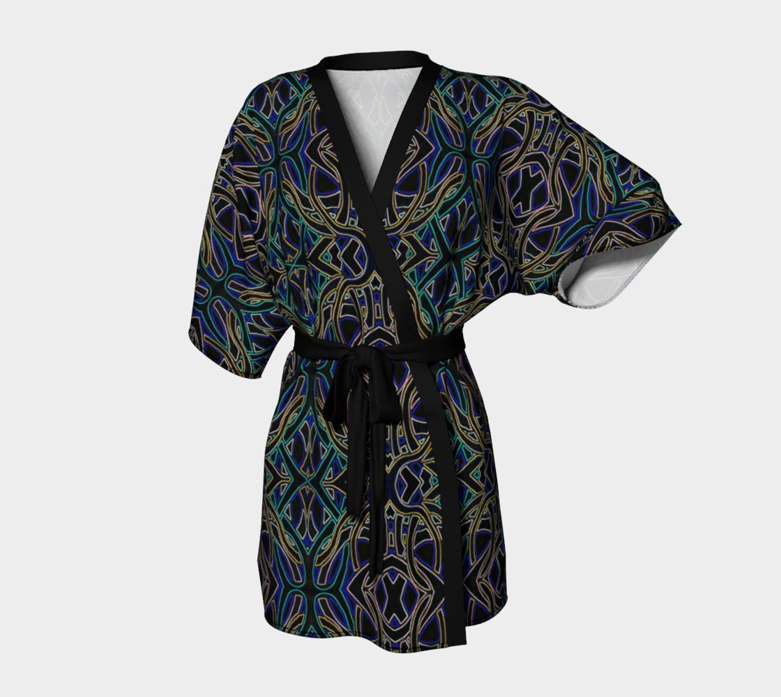 Dark Peacock Kimono Robe preview #1