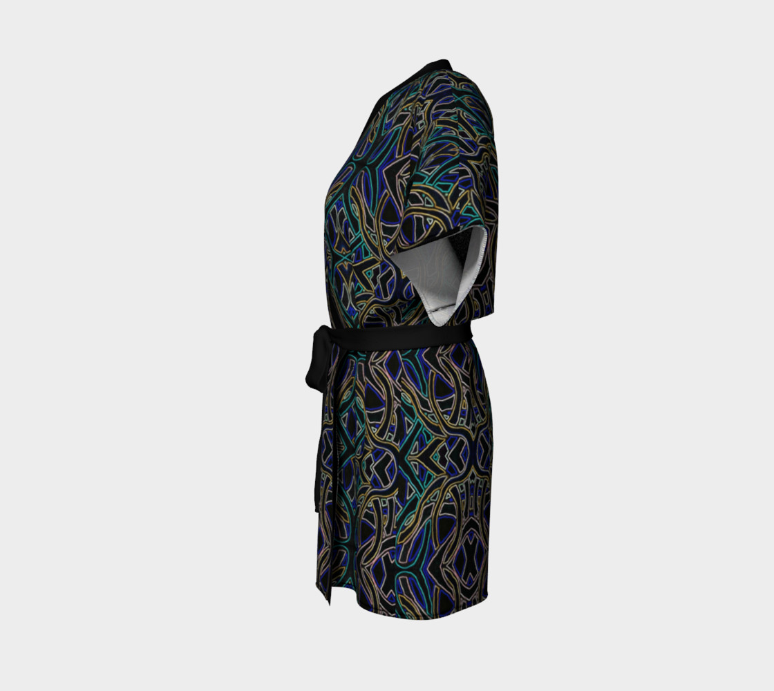Dark Peacock Kimono Robe preview #2