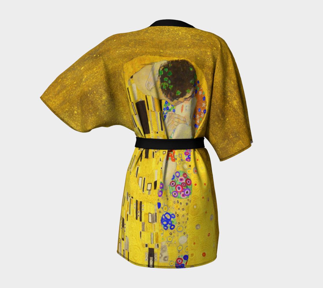 The Kiss by Gustav Klimt Kimono preview #4