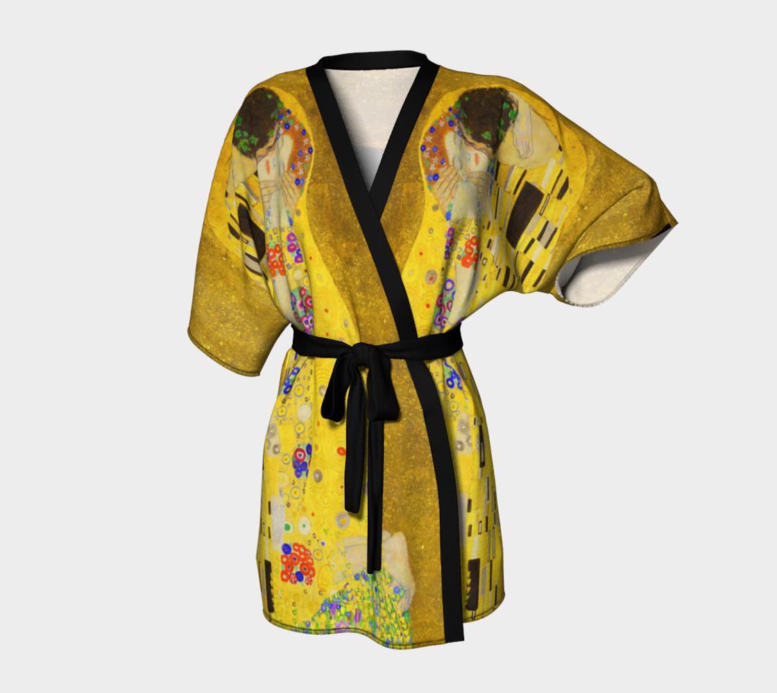 The Kiss by Gustav Klimt Kimono preview #1