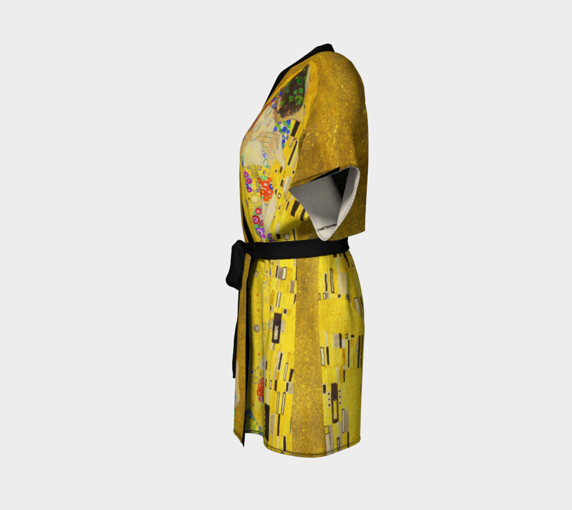 The Kiss by Gustav Klimt Kimono preview #2