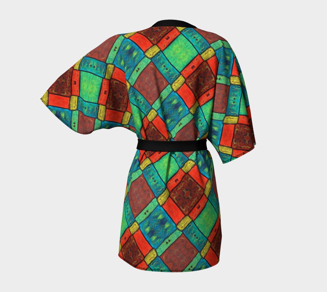 Coney Island Mosaic II Kimono Robe preview #4