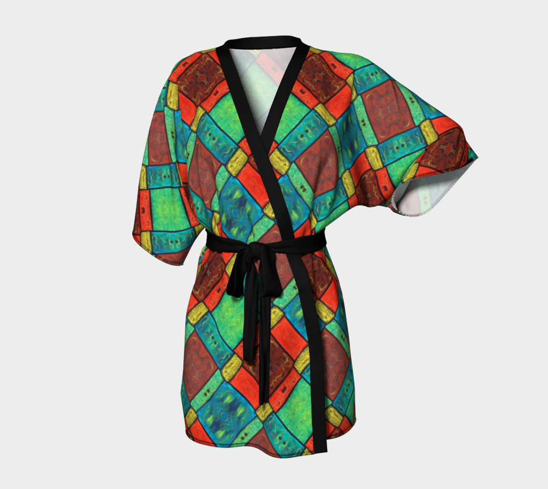 Coney Island Mosaic II Kimono Robe preview #1