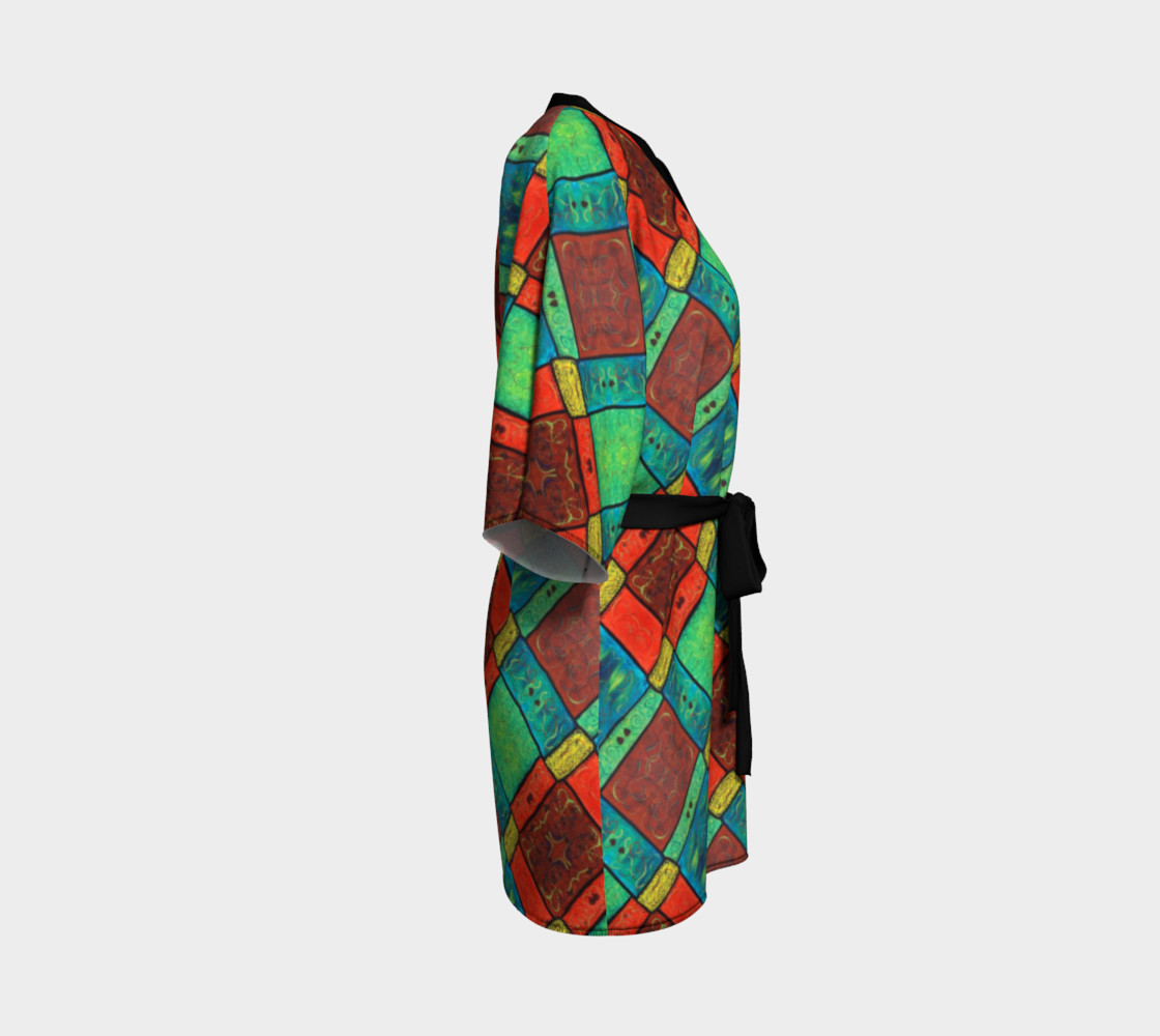 Coney Island Mosaic II Kimono Robe preview #3