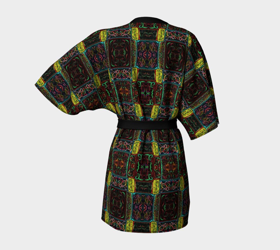 Aperçu de Midnight Lights Kimono Robe #4