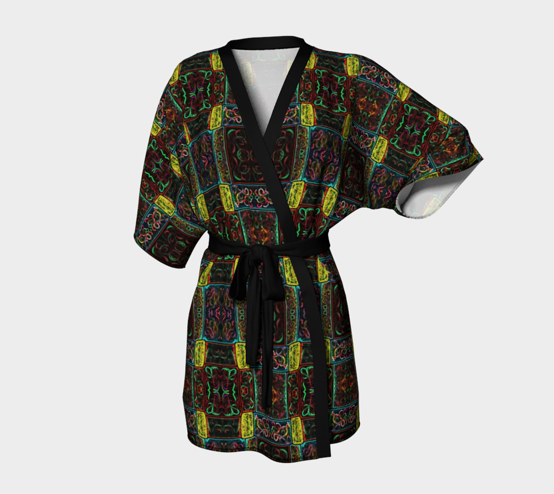 Midnight Lights Kimono Robe 3D preview