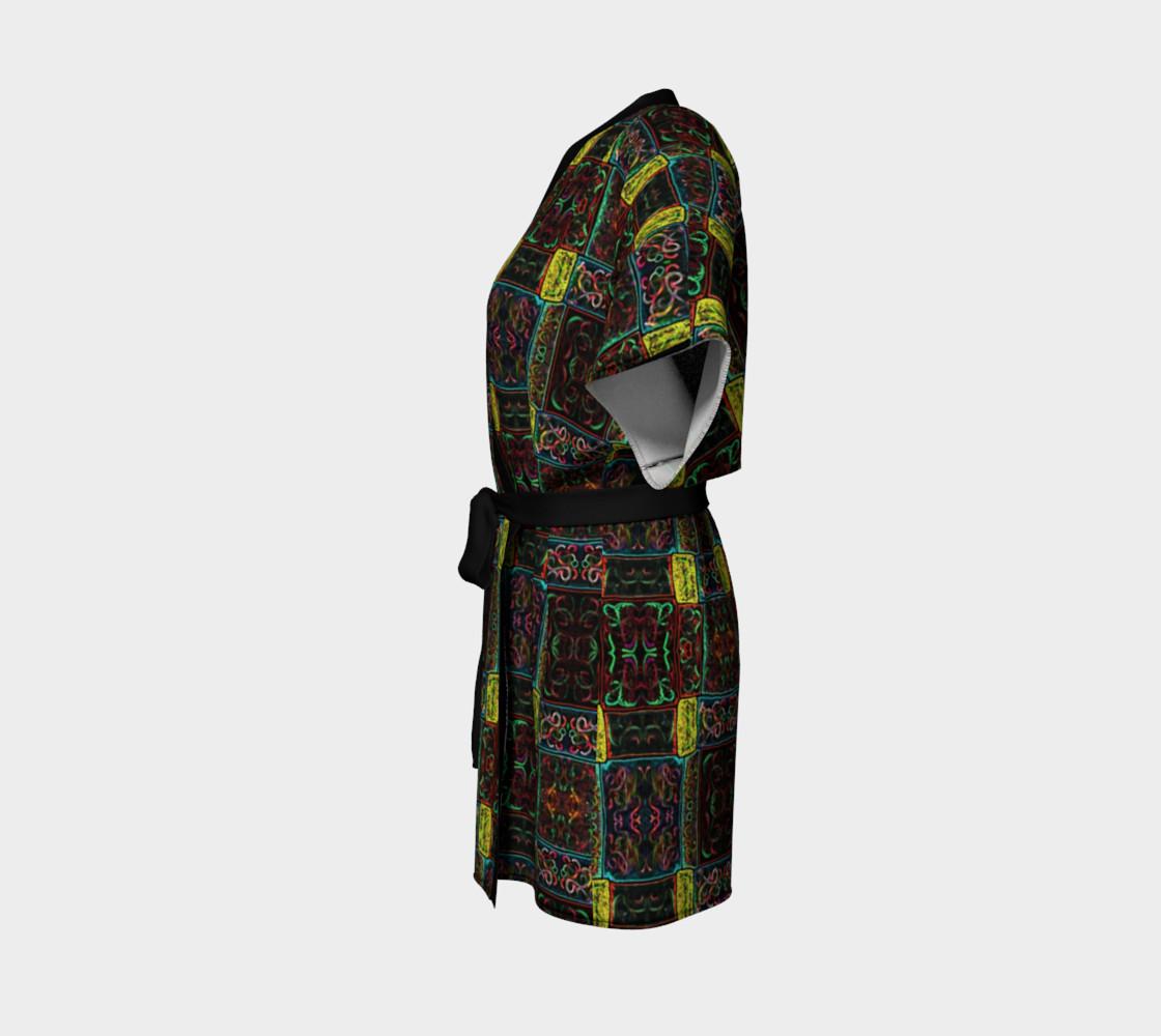 Aperçu de Midnight Lights Kimono Robe #2