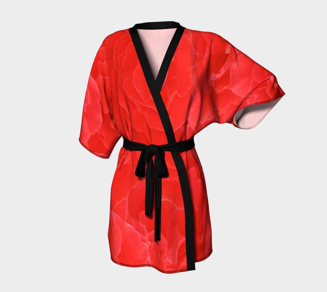 Romantic Red Rose Floral Kimono preview #1