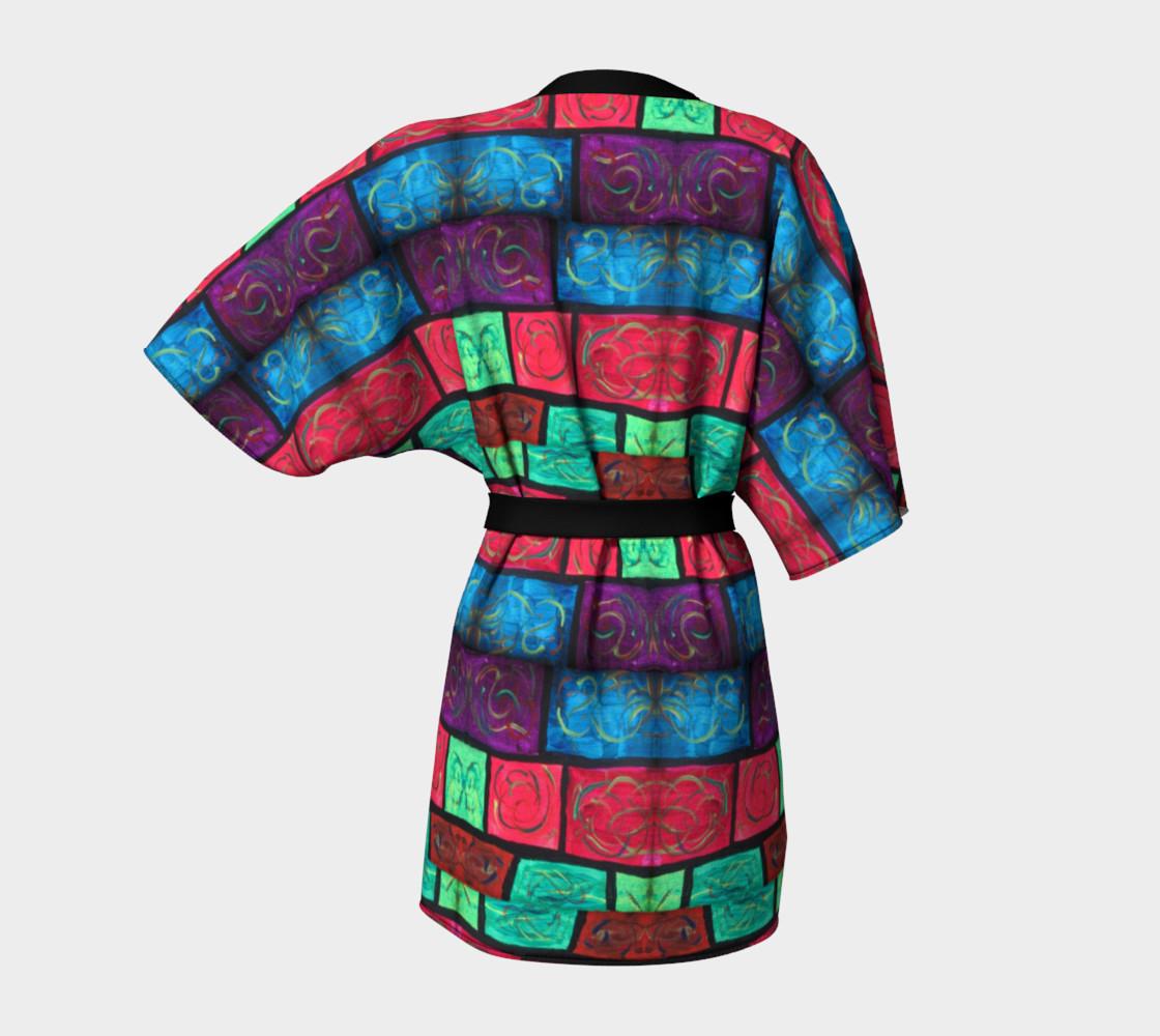 Path Mosaic Kimono Robe preview #4
