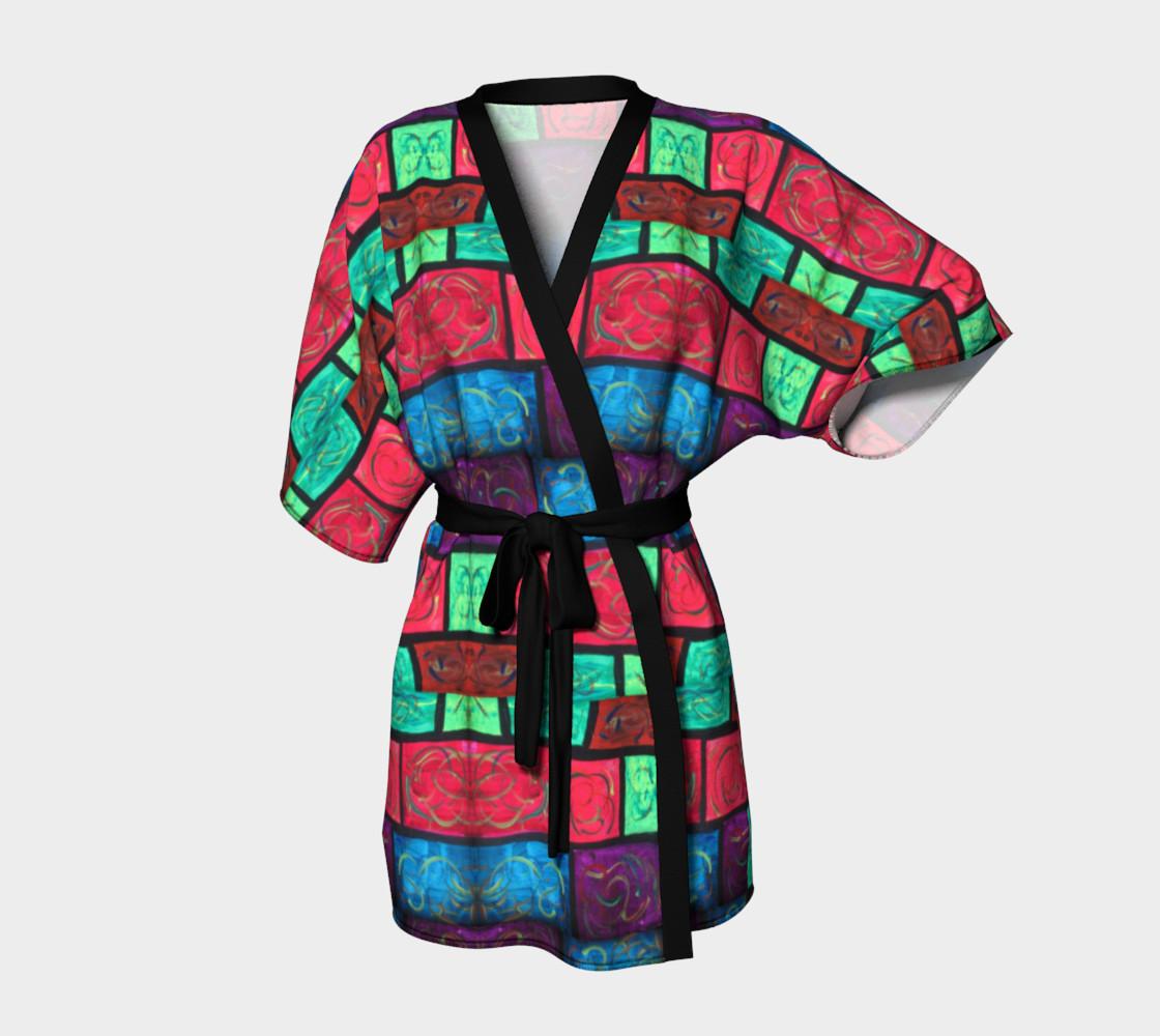 Path Mosaic Kimono Robe preview #1