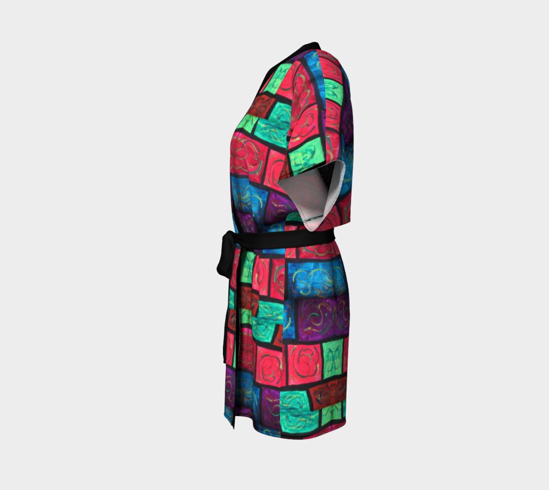 Path Mosaic Kimono Robe preview #2
