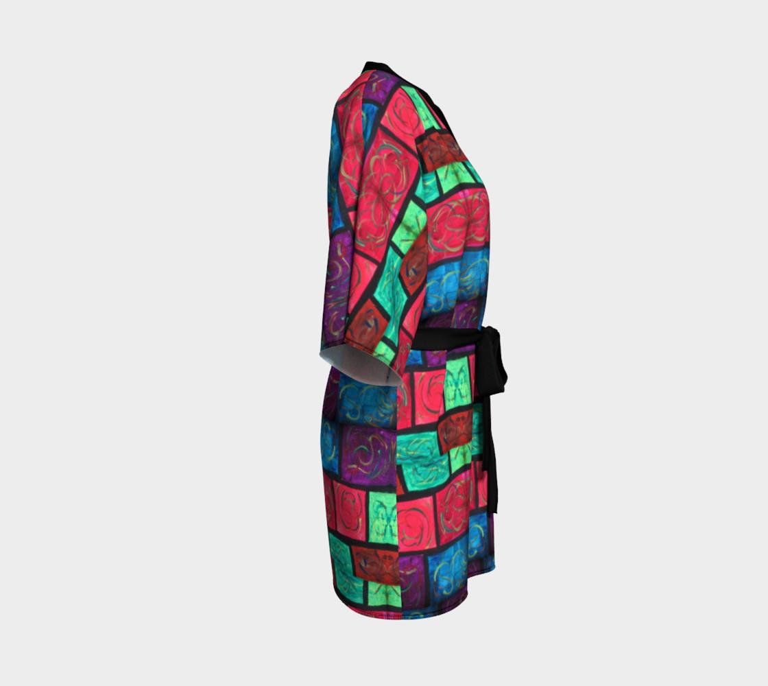 Path Mosaic Kimono Robe preview #3