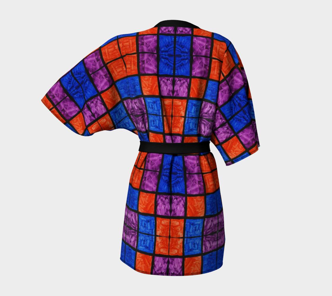Checkerboard Mosaic Kimono Robe preview #4