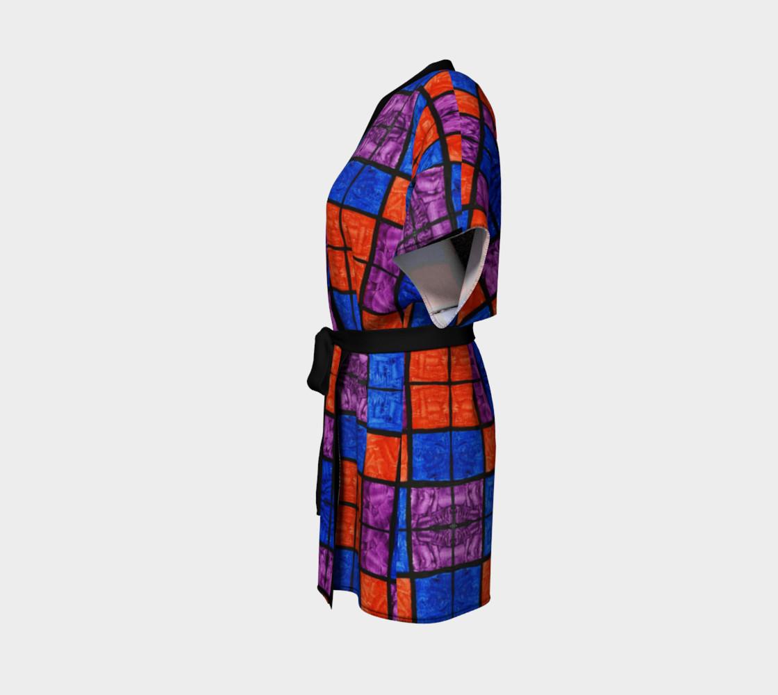 Checkerboard Mosaic Kimono Robe preview #2