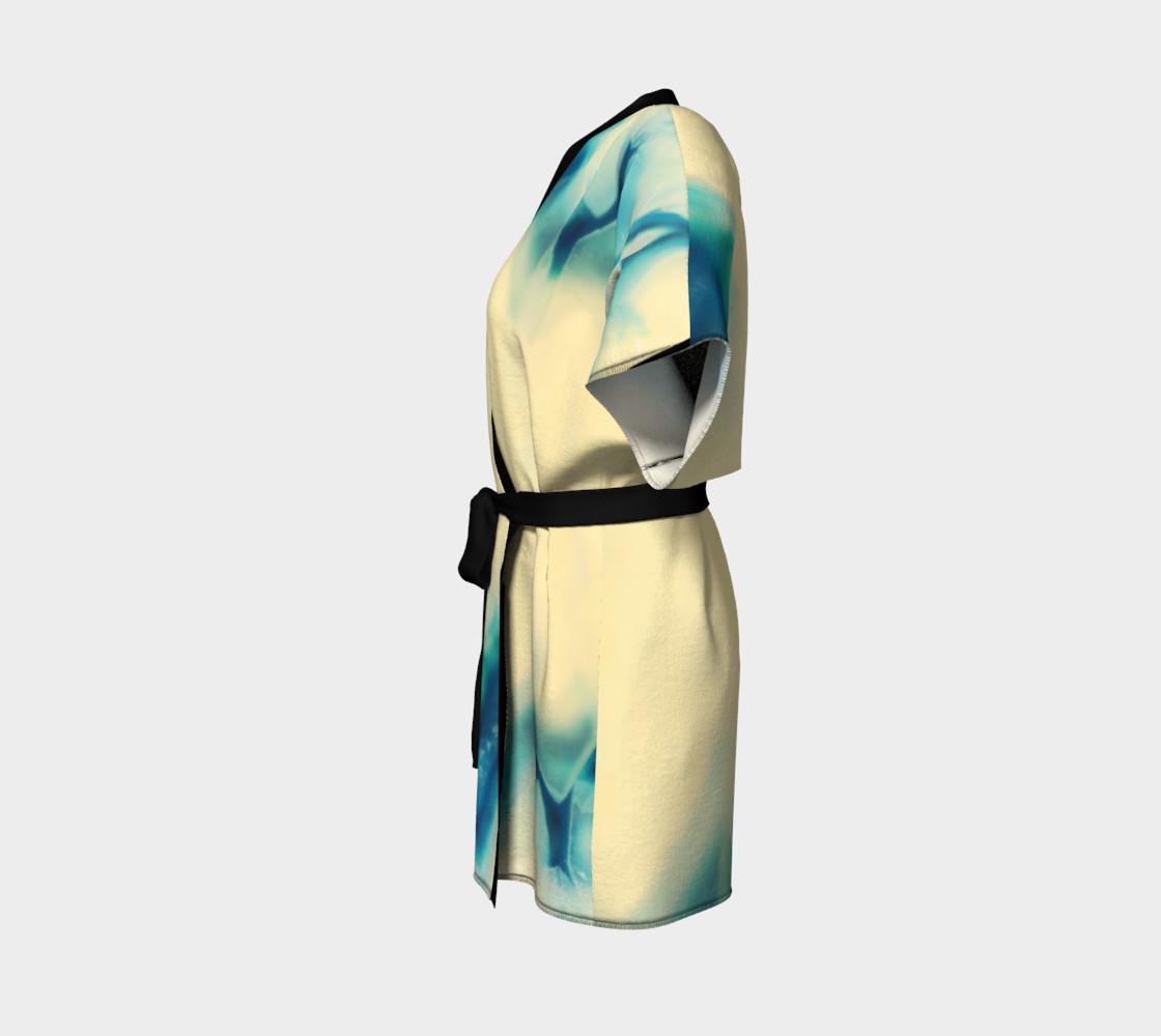 Aperçu de Sapphire Blue Cream Agate Gemstone Pattern #2