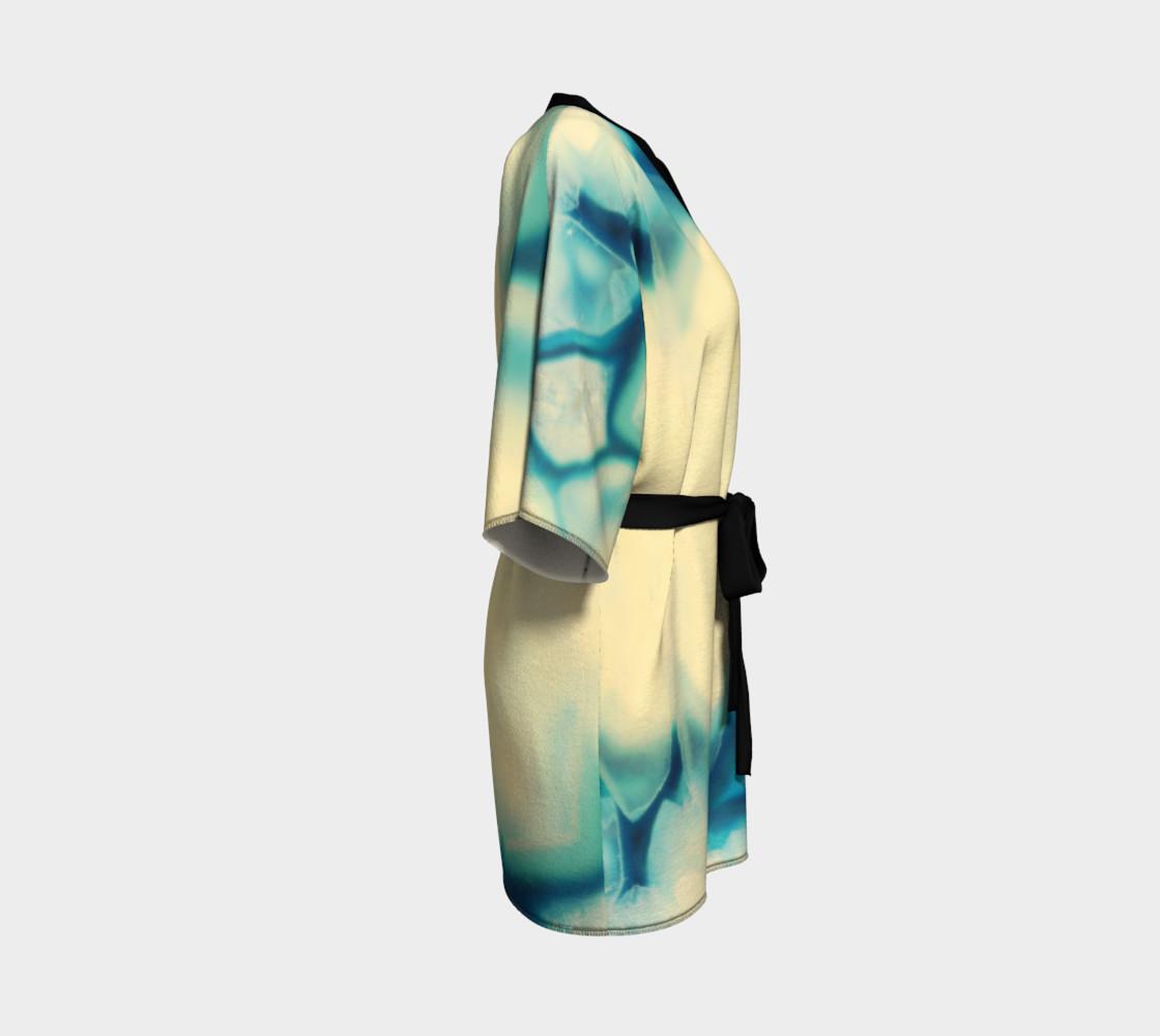 Aperçu de Sapphire Blue Cream Agate Gemstone Pattern #3