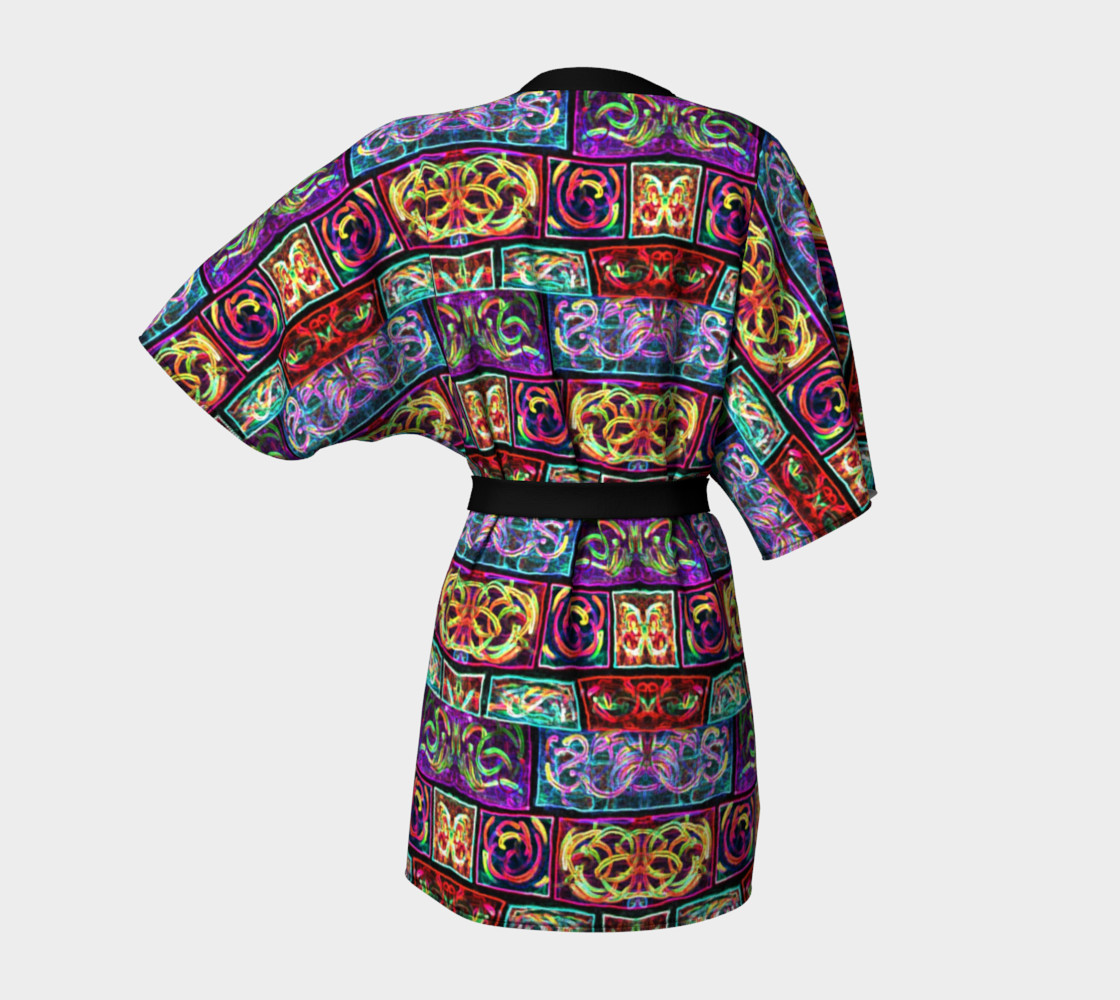 Ionic Damask Stained Glass Kimono Robe preview #4