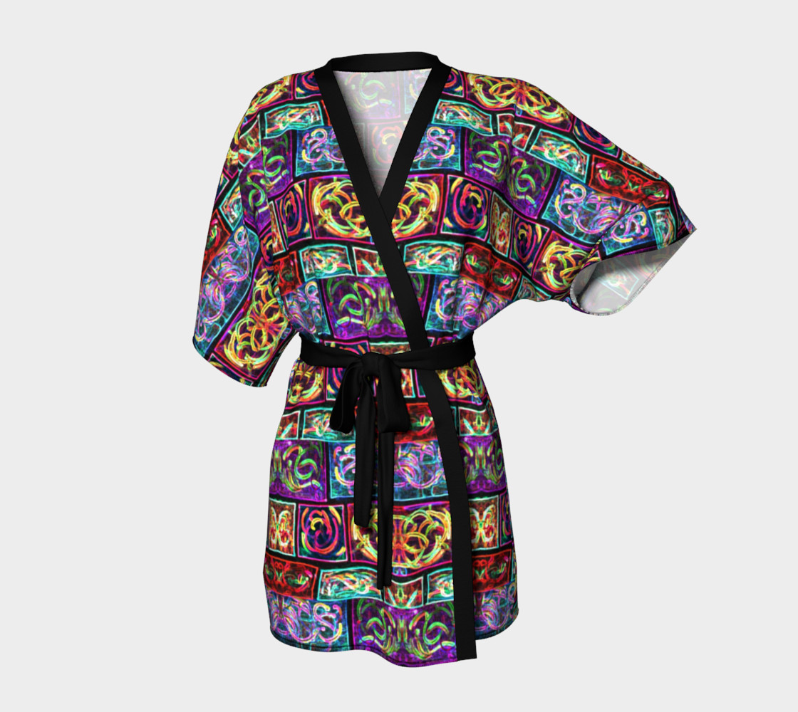 Ionic Damask Stained Glass Kimono Robe preview #1