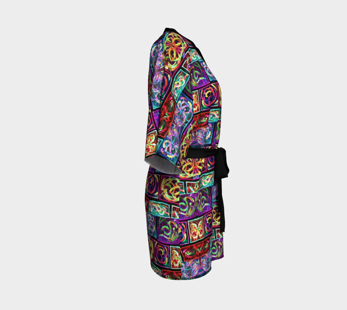 Ionic Damask Stained Glass Kimono Robe preview #3