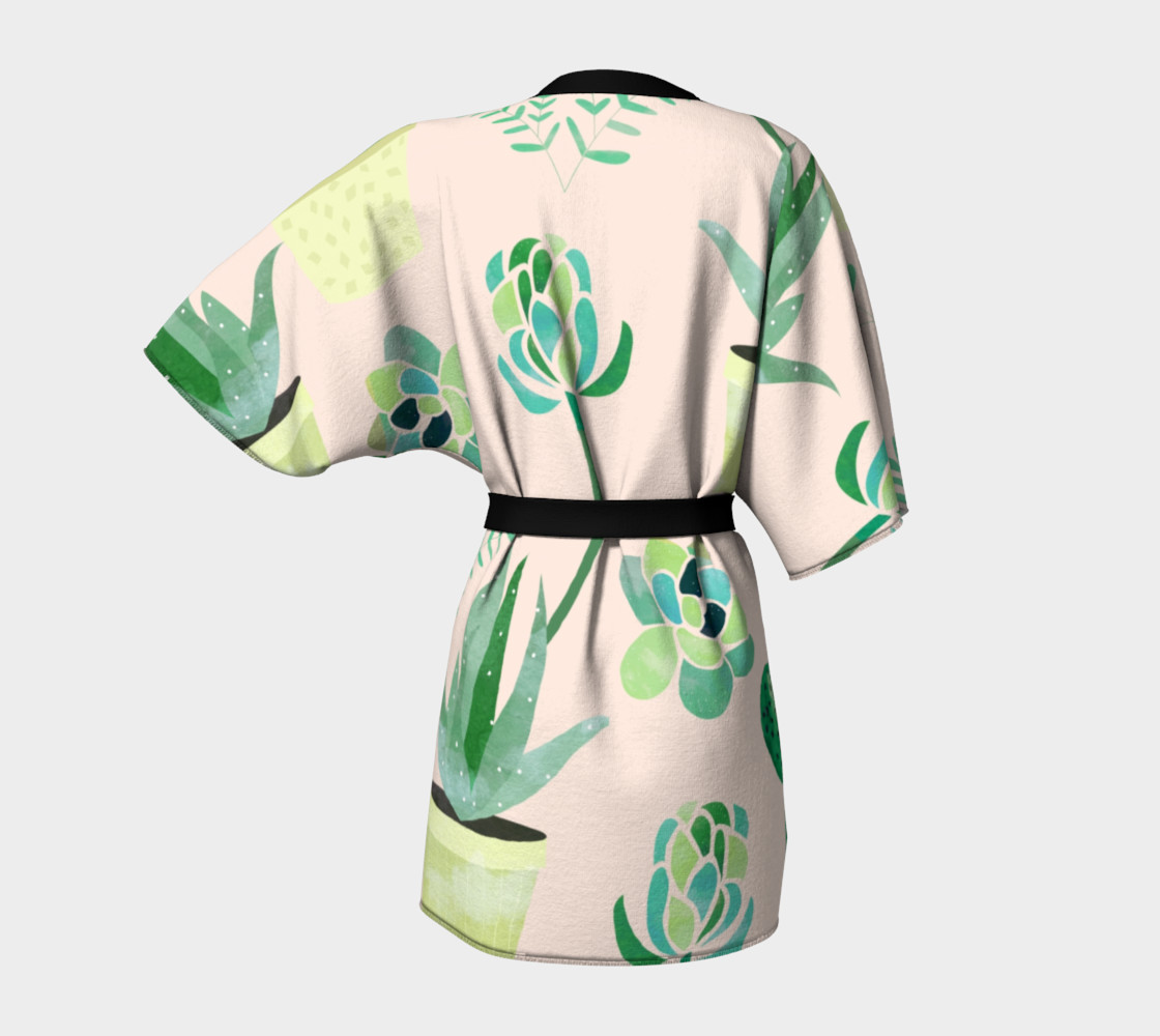 Cactus Pattern Kimono robe preview #4