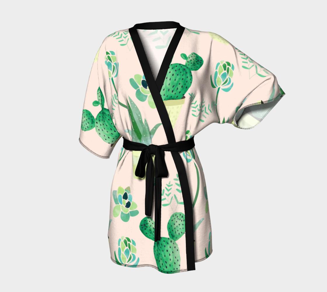 Cactus Pattern Kimono robe preview #1