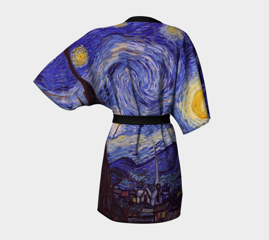 Vincent Van Gogh Starry Night Kimono  preview #4