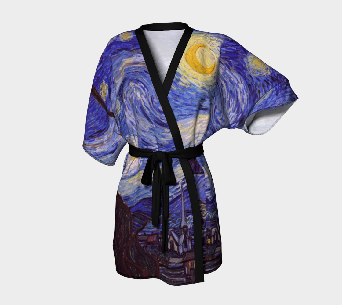 Vincent Van Gogh Starry Night Kimono  preview #1