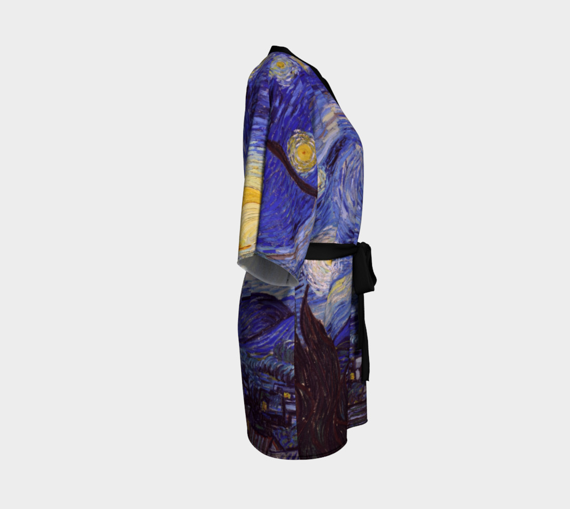 Vincent Van Gogh Starry Night Kimono  preview #3