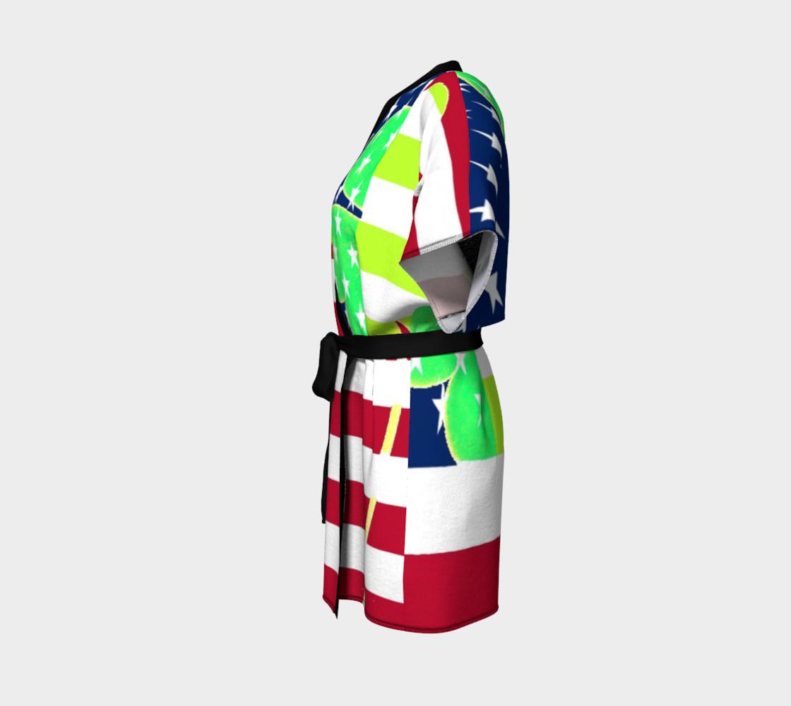 Aperçu de Funny St. Patrick Kimono Robe Irish Shamrock American Flag Colors #2