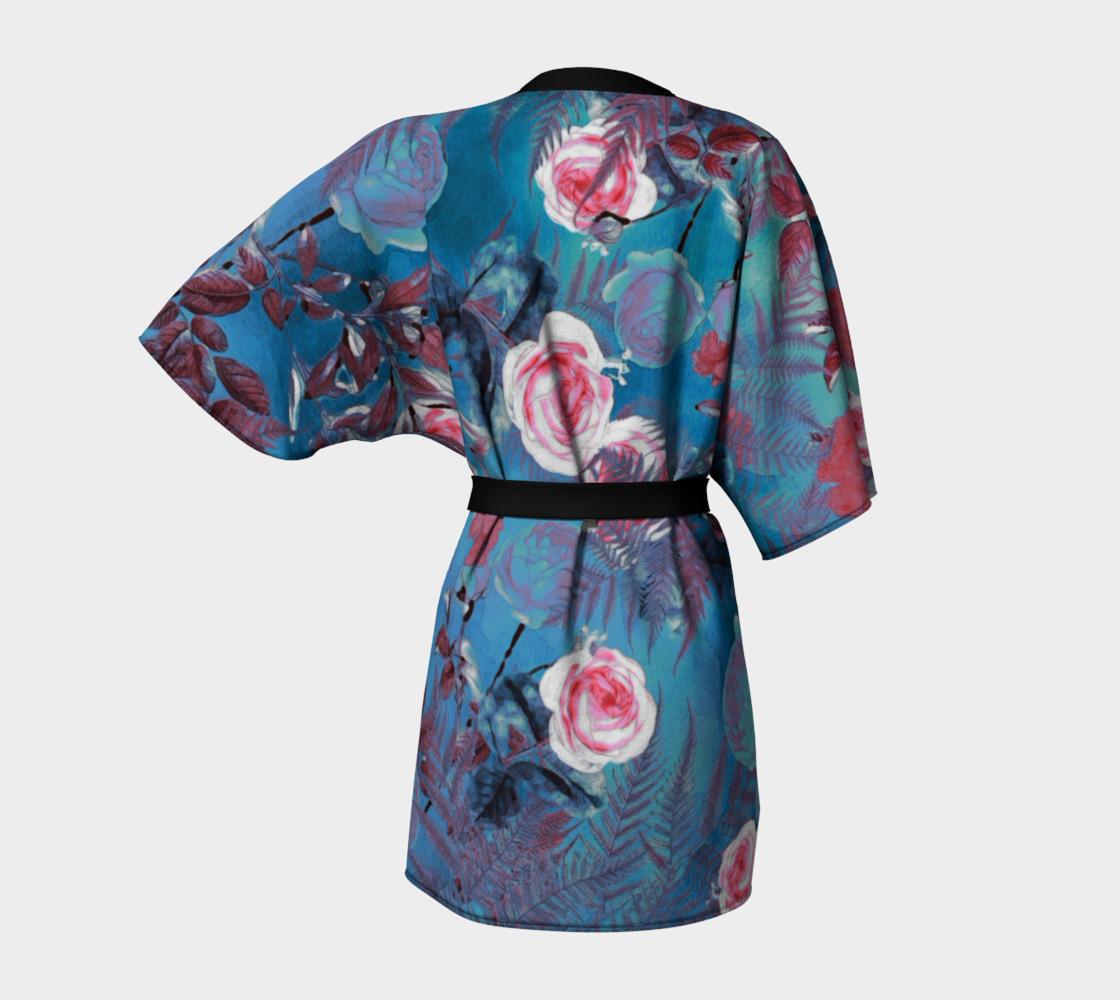 Aperçu de kimono robe blue flowers #4