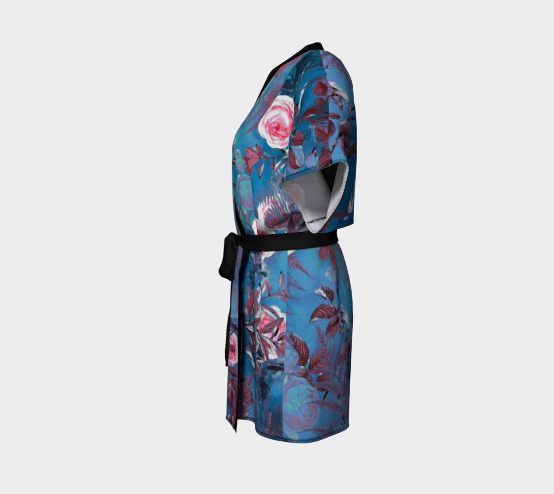Aperçu de kimono robe blue flowers #2