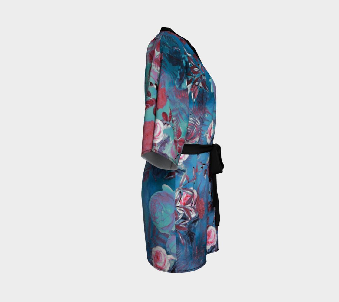 Aperçu de kimono robe blue flowers #3