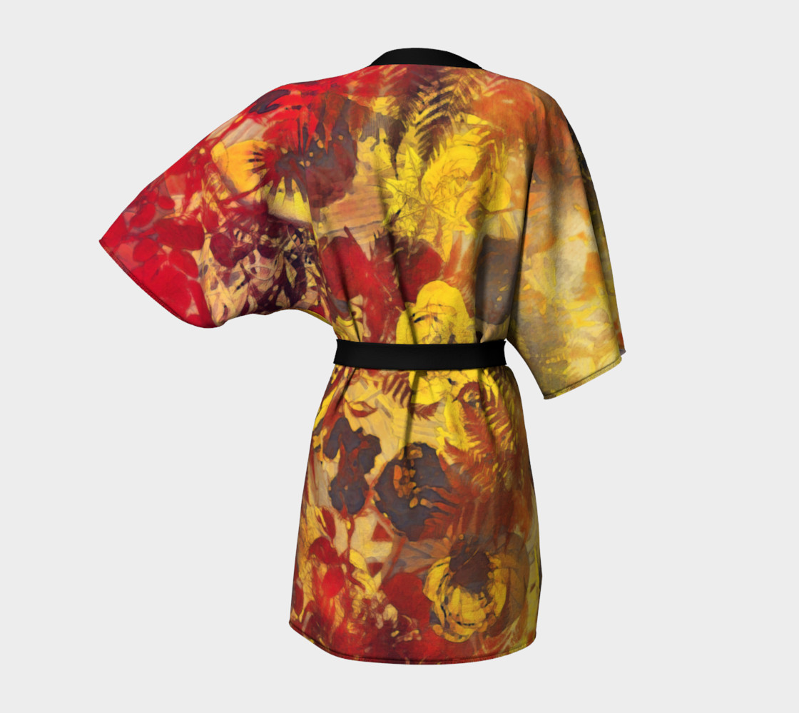 kimono robe flowers preview #4