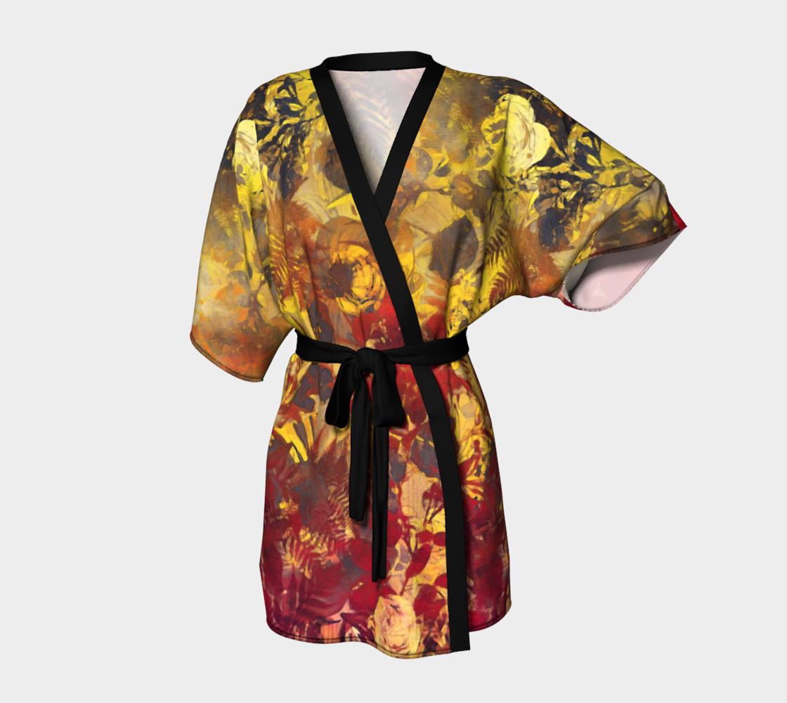 kimono robe flowers preview #1