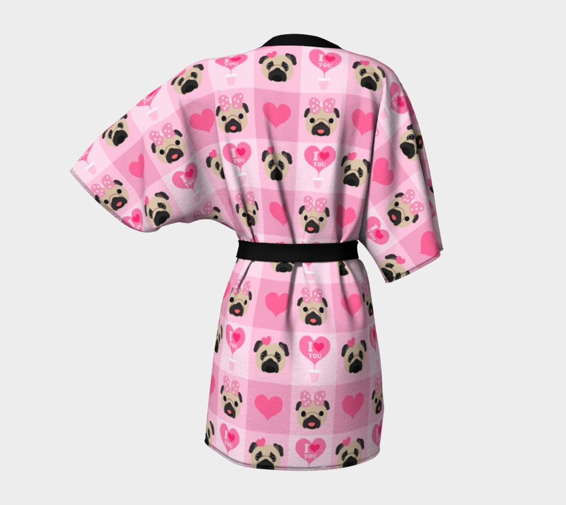 Aperçu de Valentine Pugs - Pink, Fawn Pugs #4