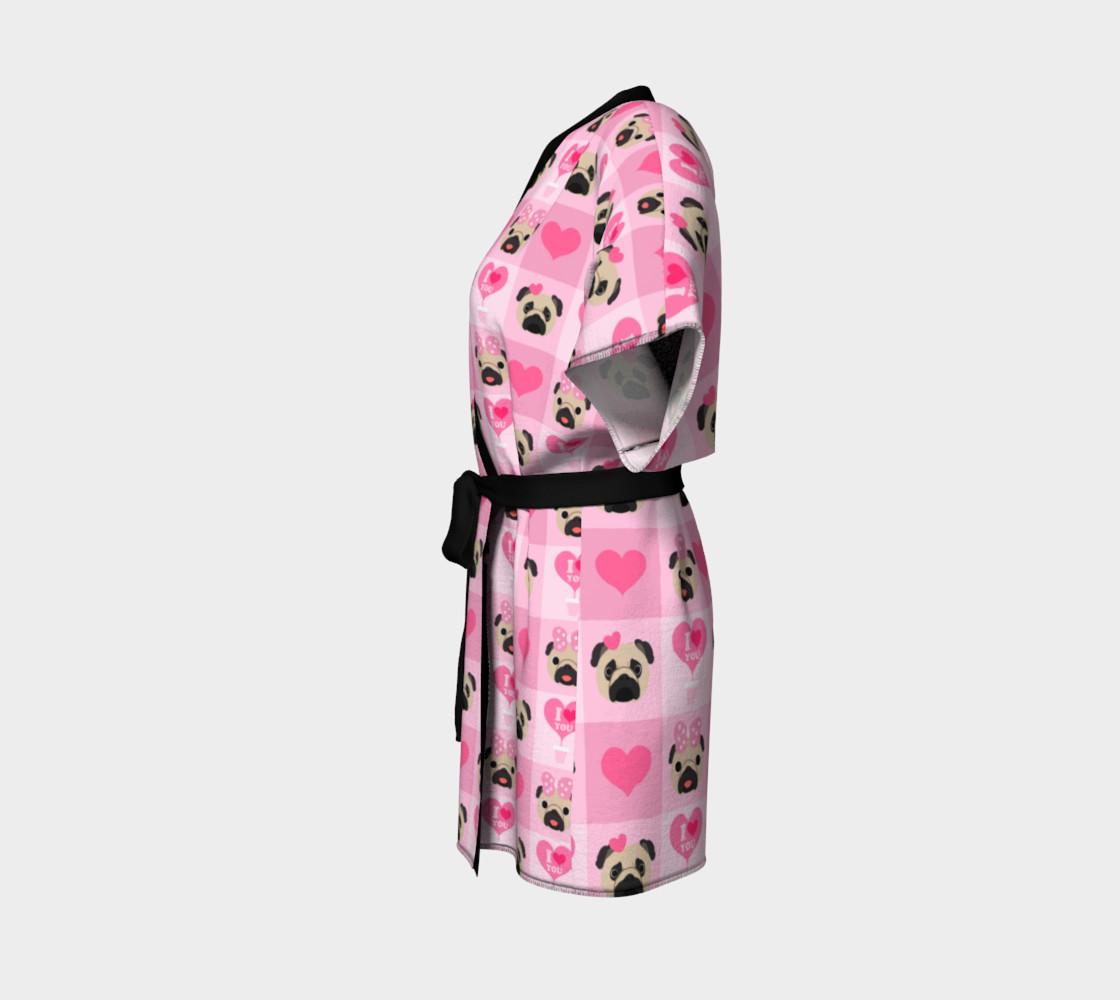 Aperçu de Valentine Pugs - Pink, Fawn Pugs #2