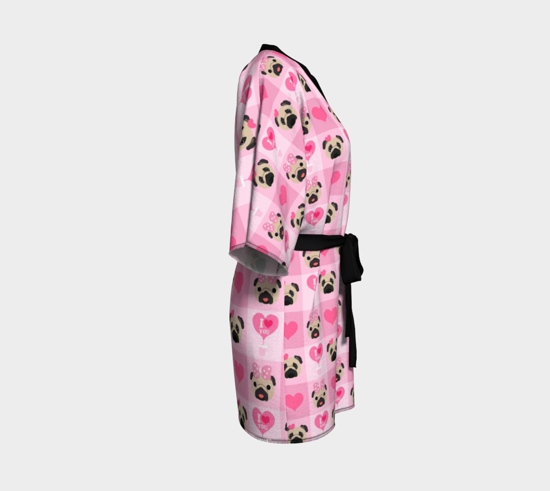 Aperçu de Valentine Pugs - Pink, Fawn Pugs #3