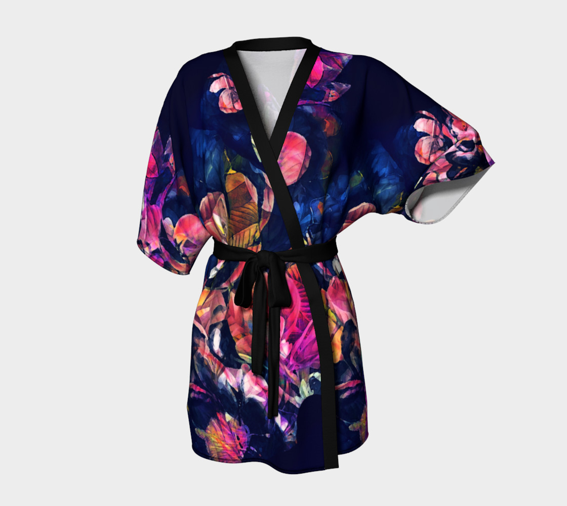 kimono robe roses and flowers preview #1