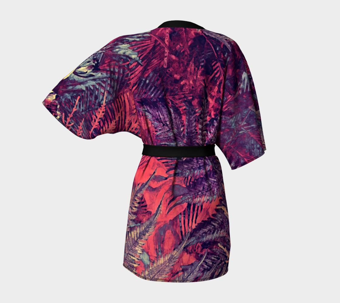 kimono robe purple flowers preview #4
