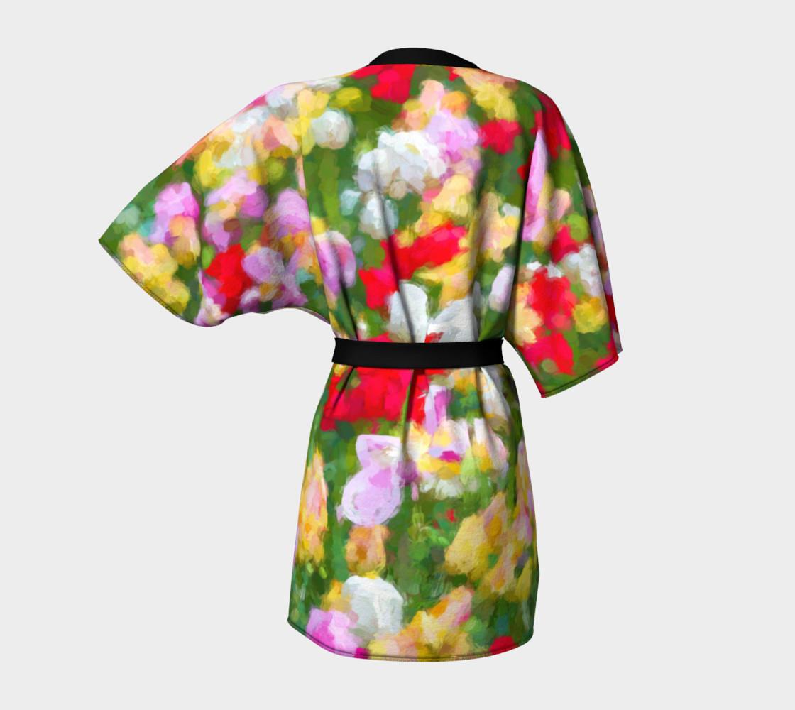 Painted Tulips Kimono Robe preview #4