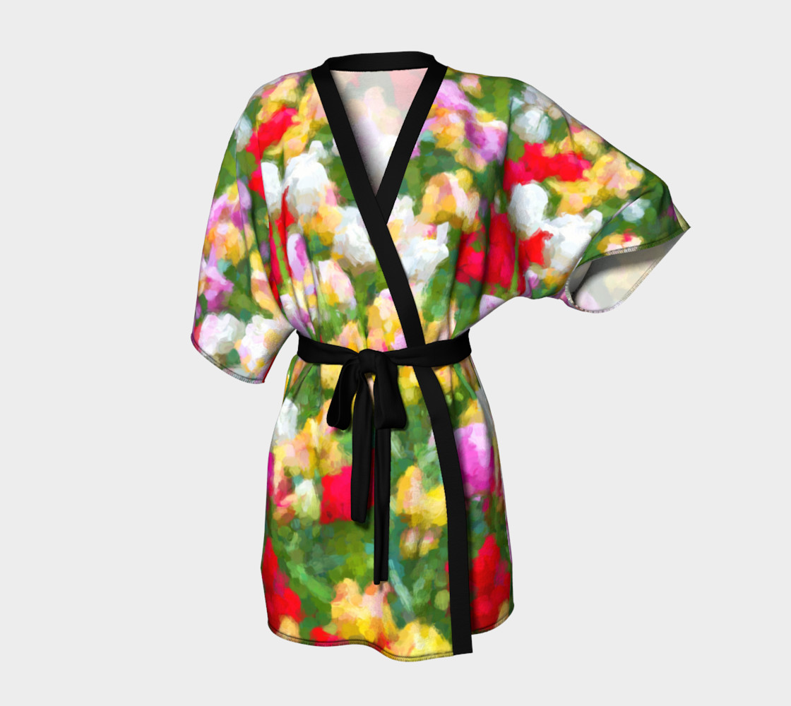 Painted Tulips Kimono Robe preview #1