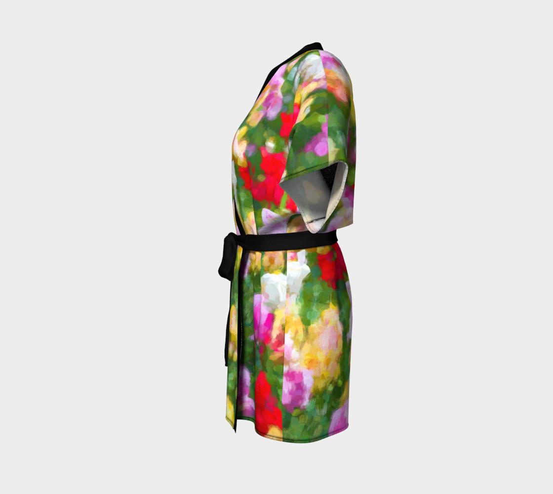 Painted Tulips Kimono Robe preview #2