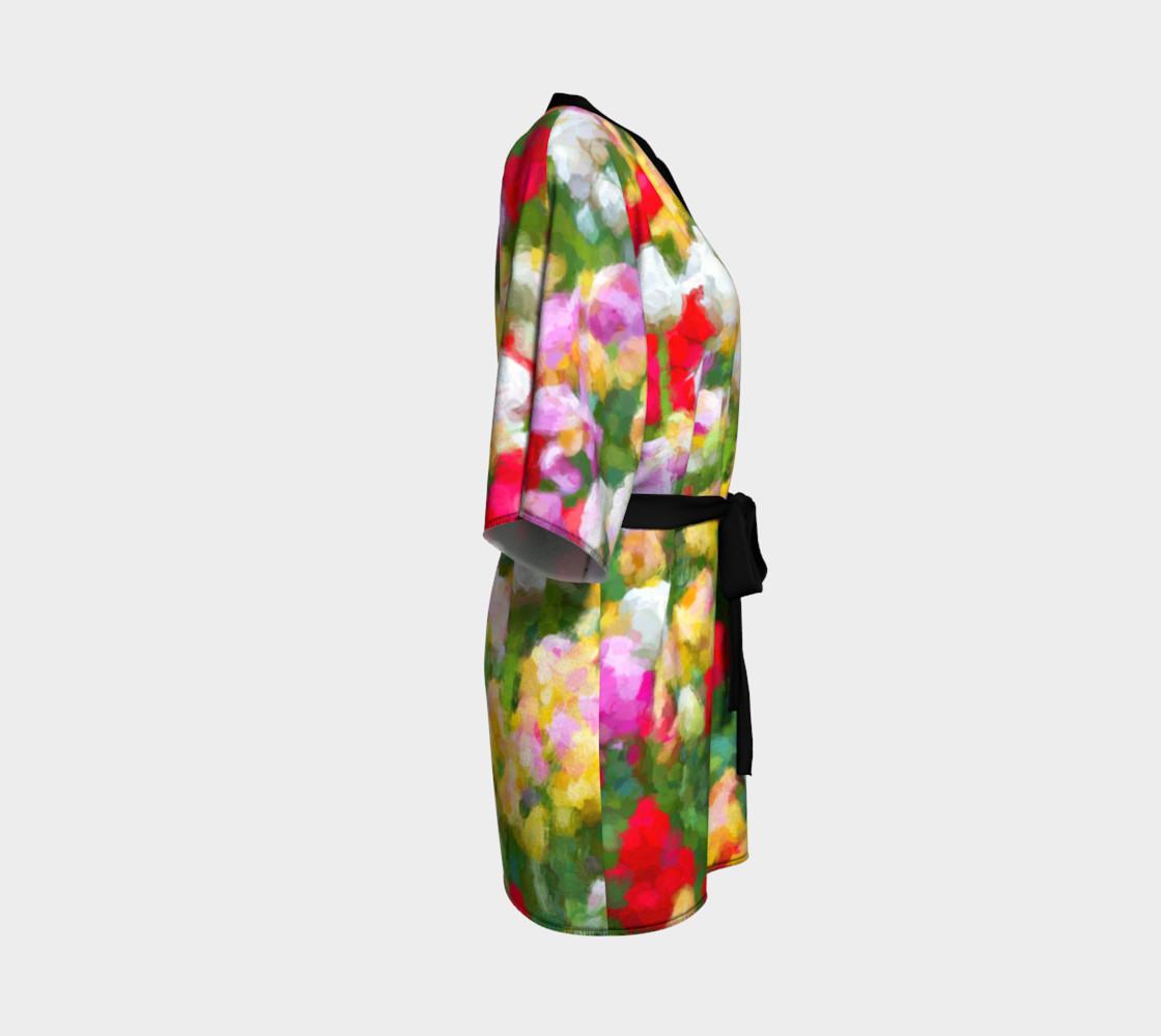 Painted Tulips Kimono Robe preview #3